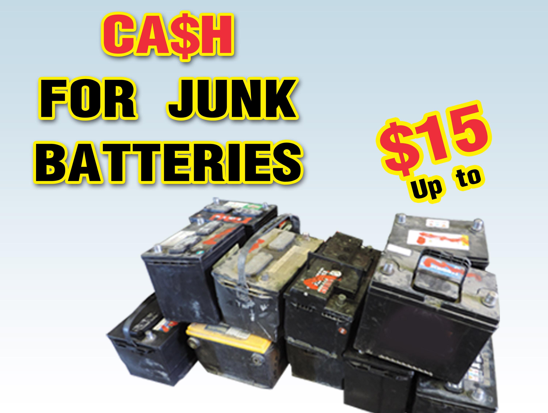 California Batteries Inc | We buy junk batteries